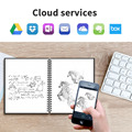 NEWYES A6 size Smart Reusable Erasable Notebook Microwave Wave Cloud Erase Notepad Note Pad Lined With Pen save paper preview-5