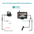 GreenYi 1080P Wireless IPS 5 Inch Car Monitor Rear View Reverse Camera Driving Kit with Stable Digital Signal Auto Parking preview-2