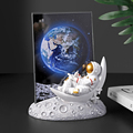 European Style Resin Astronaut Photo Frame Statuette Bedroom Frames Living Room Home Accessories Decoration Modern Ornaments preview-5