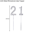 21th Cake Toppers