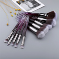 FLD Crystal Makeup Brushes Powder Foundation Eyeshadow Eyebrow Cosmetics for Face Fan Make Up Brush Set Brochas Maquillaje preview-2