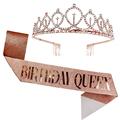 1set Rose Gold Queen