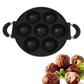 7-Hole Cake Cooking Pan Cast Iron Omelette Pan Non-Stick Cooking Pot Breakfast Egg Cooking Pie Cake Mold Kitchen Cookware Tool preview-1