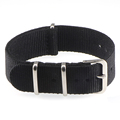 18mm 20mm  NATO Army Sports brand Nylon fabric belt accessories belt buckle bands 007, James bond. black 20mm watch strap preview-3