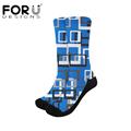 FORUDESIGNS New Women Socks Multicolor pattern Print on demand Breathable Sweat Non-slip  Outdoor Sport Hikking Running Socks preview-1