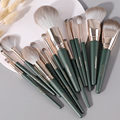 14Pcs Makeup Brushes Set Cosmetic Foundation Powder Blush Eye Shadow Lip Blend Wooden Make Up Brush Tool Kit Maquiagem preview-3