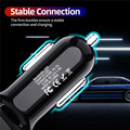 USLION 4 Ports USB Car Charge 48W Quick 7A Mini Fast Charging For iPhone 11 Xiaomi Huawei Mobile Phone Charger Adapter in Car preview-4