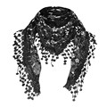 Women Lace Sheer Floral Knit Veil Scarf Hollow Out Crochet Shawl Wraps Tassels Scarves Party Evening Wrap Scarf Ladies New preview-2