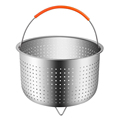 Stainless Steel Kitchen Steam Basket Pressure Cooker Anti-scald Steamer Multi-Function Fruit Cleaning Basket Cookeo Accessories preview-1