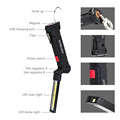 Portable COB LED Flashlight USB Rechargeable Work Light  Magnetic Lanterna Hanging Lamp with Built-in Battery Camping Torch preview-2