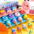 Sharkbang 4PCS Kawaii Ice Cream Hamburger Lollipop Detachable Rubber Eraser For Kids Gift Correction Tool School Stationery preview-2