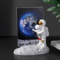 European Style Resin Astronaut Photo Frame Statuette Bedroom Frames Living Room Home Accessories Decoration Modern Ornaments preview-3