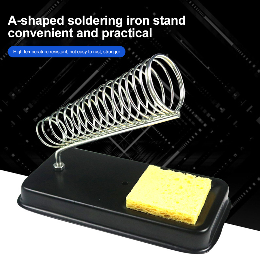 Electric Soldering Iron Stand Holder with Welding Cleaning Sponge Pads Generic High Temperature Resistance