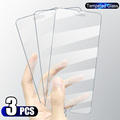 3PCS Full Cover Tempered Glass On the For iPhone 7 8 6 6s Plus X Screen Protector On iPhone X XR XS MAX SE 5 11 12 13 Pro Glass preview-2