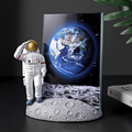 European Style Resin Astronaut Photo Frame Statuette Bedroom Frames Living Room Home Accessories Decoration Modern Ornaments preview-2