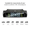 HGDO Seguridad del automóvil Sistema de alarma de presión de los neumáticos Energía solar Pantalla digital Smart Car TPMS Sistem preview-2