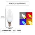 led bulb E14 E27 Edison Flicker Flame Led Candle Light Fire Lighting Vintage 3W AC220V 240V Tail Retro Decor Energy Saving Lamp preview-6