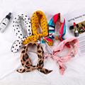 Square Silk Scarf 2021 Fashion Silk Satin Print Small Head Neck scarf Women Headscarf Kerchief Female Bandana Shawl  Accessories preview-2