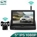 GreenYi Wireless 1080P 5 Inch Foldable IPS Car Monitor Reverse Rear View Camera Driving Kit with Stable Digital Signal preview-1