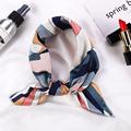 Square Silk Scarf 2021 Fashion Silk Satin Print Small Head Neck scarf Women Headscarf Kerchief Female Bandana Shawl  Accessories preview-1