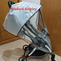 Stroller Accessories Waterproof Rain Cover Transparent Wind Dust Shield Zipper Open Raincoat For Baby Strollers Pushchairs Rainc preview-4