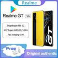 Original Realme GT 5G smartphone Google 120Hz 6.43'' Super AMOLED Snapdragon 888 Glass 4500mAh 65W Super Charge global ROM NFC preview-1