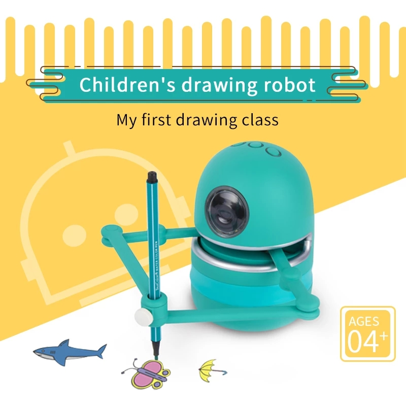 Rc Automatic Painting Learning Art Training Machine Intelligent Paint Robot Multiple Themes Pictures Drawing Robots Toy Gifts
