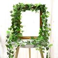 1Pc 230Cm Green Vine Silk Artificial Ivy Hanging Leaf Garland Plants Creeper Leaf Home Decor Wedding Bathroom Garden Decoration preview-2
