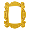 TV Series Friends Handmade Monica Door Frame Wood Yellow Mon  Photo Frames Collectible Home Decor Collection Gift preview-1