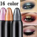 Pearlescent silkworm eyeshadow pen lasting waterproof and not blooming Shiny pearlescent gel pen 16 color eye shadow pen preview-1