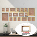 18Pcs/Set Wood Picture Frames For Wall Hanging, Photo Frame Wall With Pictures Classic Wooden Frame For Home Decoration preview-3