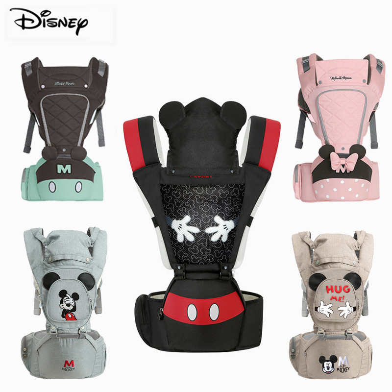 Disney 0-48 Month Baby Carrier Multi-Function Ergonomic Kangaroo Baby Sling Ergonomic Front Facing Infant Baby Hip Seat Carrier