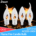 led bulb E14 E27 Edison Flicker Flame Led Candle Light Fire Lighting Vintage 3W AC220V 240V Tail Retro Decor Energy Saving Lamp preview-1
