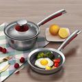 KOBACH kitchen pan set 16cm breakfast pots for kitchen frying pan milk pot stainless steel cooking pots nonstick cookware sets preview-3