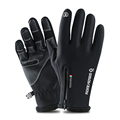 5 Size Cold-proof Unisex Waterproof Winter Gloves Cycling Fluff Warm Gloves For Touchscreen Cold Weather Windproof Anti Slip preview-1