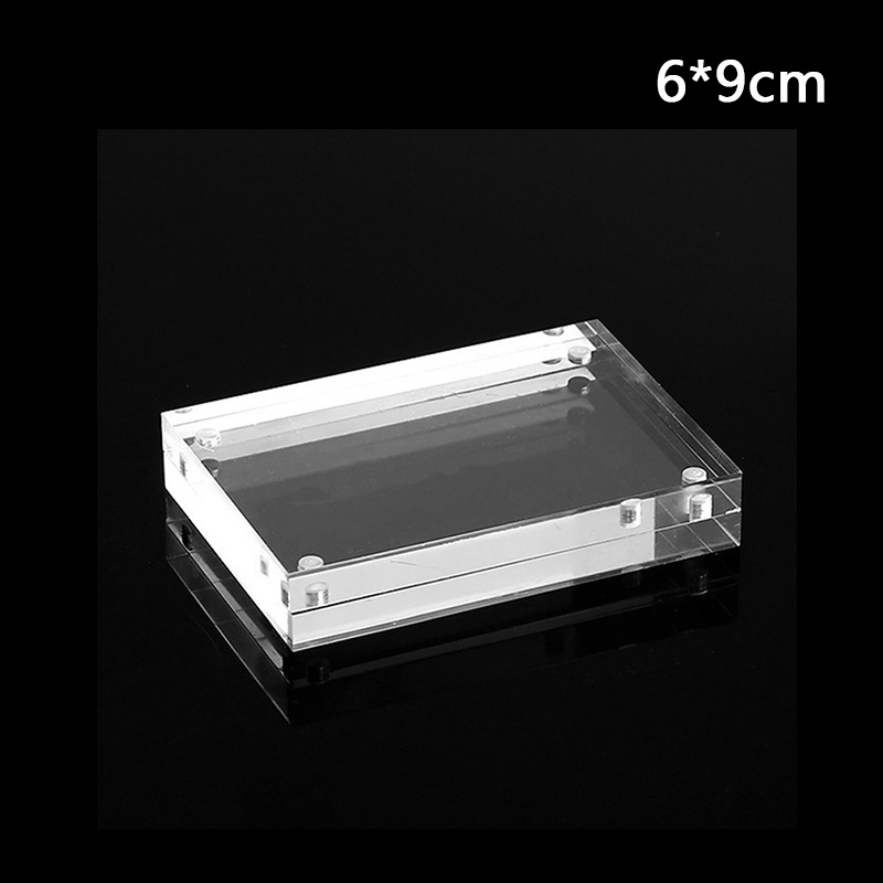 Christmas Gift Acrylic Clear Photo Frame Creative Crystal Picture Frame Bedroom Deck Decor 55x82mm 60x90mm 75x105mm 100 x150mm