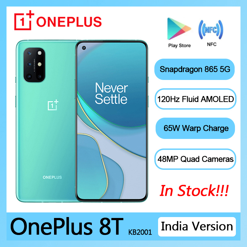 Oneplus 8T 8 T Global Version KB2001 5G SmartPhone 120Hz Fluid AMOLED Display Snapdragon 865 65W Warp Charge Mobile Phone preview-7