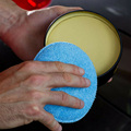 24PCS 5inch Car Waxing Sponge Blue Round Applicator Easy Cleaning Leather Polish Pad Foam Microfiber Universal Washable Reusable preview-4