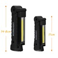Portable COB LED Flashlight USB Rechargeable Work Light  Magnetic Lanterna Hanging Lamp with Built-in Battery Camping Torch preview-3
