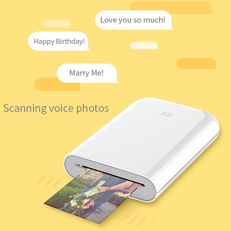 Global Version Xiaomi mijia AR Printer 300dpi Portable Photo Mini Pocket With DIY Share 500mAh picture pocket printer preview-2