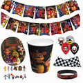Game FNAF Funtime Freddy birthday party Disposable decorations Party Tableware Set Paper Cups paper plates kids party supplies preview-2
