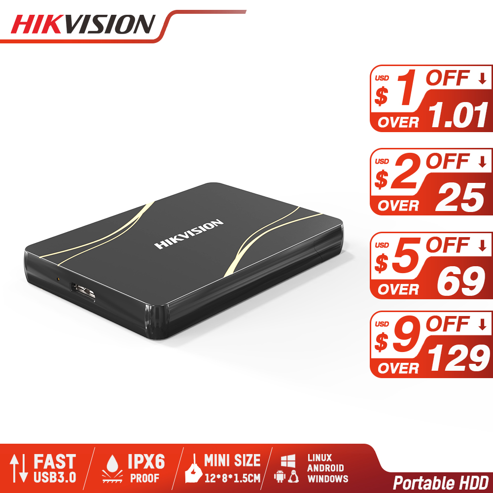 Hikvision HDD 1TB Portable Hard Disk DriveExternal 2TB HDD USB3.0 Type-A Mobile External Storage for PC laptop