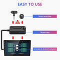 Jansite USB Android TPMS Car Tire Pressure Alarm Monitor System For vehicle Android player Temperature Warning with four sensors preview-3