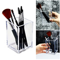 Transparent Makeup Brush Holder Organizer Plastic Pen Holder Desk Table Cosmetic Storage Box Acrylic Jewelry Box Container preview-2