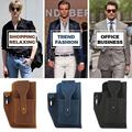 Retro Belt Waist Men's Bag Sports Running Outdoor Sports Cell Phone Leather Waist Bag For 2 Phone Men Multi-Function Key Pen Be preview-3