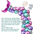 42Pcs Mermaid Balloon Arch Set Mermaid Tail Balloon Little Mermaid Party Decorations Supplies Wedding Girl Birthday Party Decor preview-2