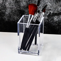 Transparent Makeup Brush Holder Organizer Plastic Pen Holder Desk Table Cosmetic Storage Box Acrylic Jewelry Box Container preview-6