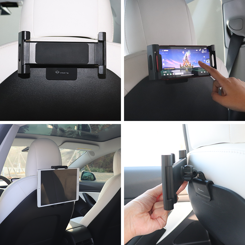 TPARTS For Tesla Model 3/Y Car Back Seat IPAD Mobile Phone Holder Mount Accessories Parts preview-4