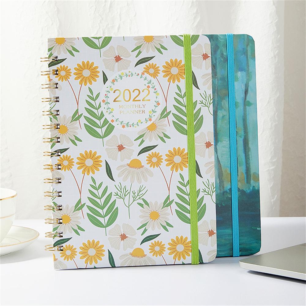 A5 2022 Diary Weekly Planner English Version Agenda Spiral Organizer Notebook Goals Habit Schedules Stationery School Supplies