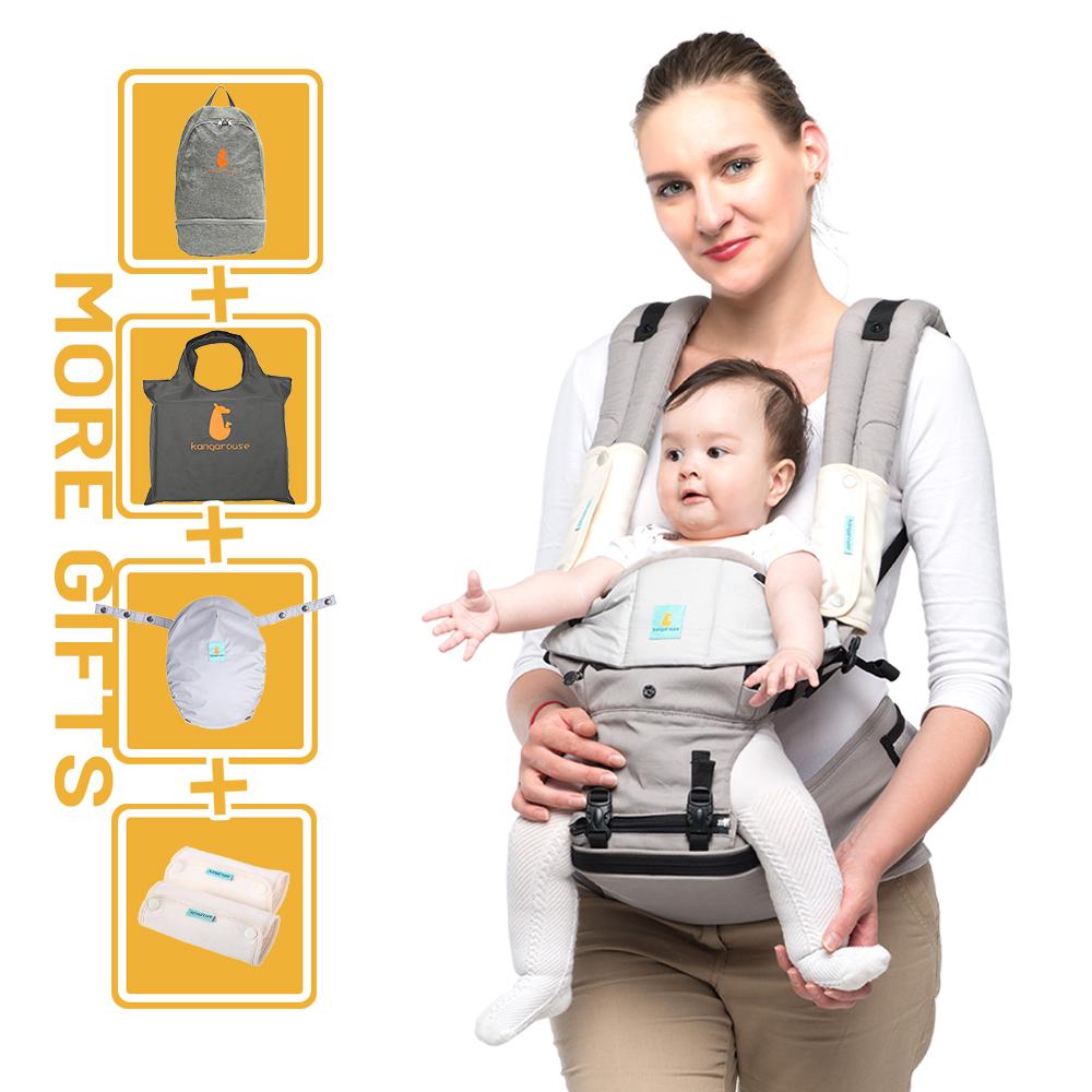 Kangarouse Baby Carrier Hipseat Multi-Functional Waist Stool Baby Slings for 0-36M KG-300